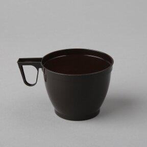 Vienkartiniai plastikiniai puodeliai  kavai  200ml 12vnt