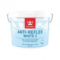 Anti-Reflex White 2 balti visiškai matiniai dažai luboms 10l
