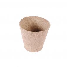 Apvalus durpinis puodelis 8cm