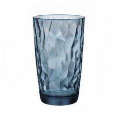 Aukšta mėlyna stiklinė DIAMOND, 470ml