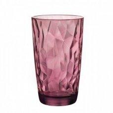 Aukšta purpurinė stiklinė  DIAMOND, 470 ml