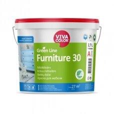 Baldų dažai Vivacolor Green Line FURNITURE 30  A 2,7l