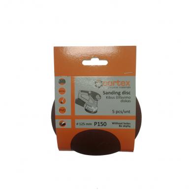 Diskas kibus Cortex P150 125mm 5vnt.