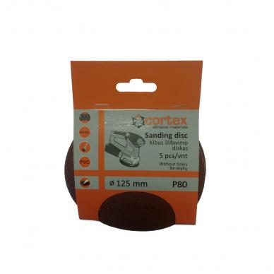 Diskas kibus Cortex P80 125mm 5vnt.