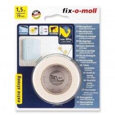 Dvipusė lipnioji juosta Fix-O-Moll, 1,5 m x 19 mm