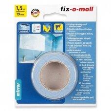 Dvipusė lipnioji juosta veidrodžiams Fix-O-Moll, 1,5 m x 19 mm