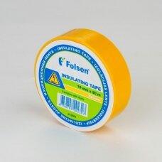 Geltona izoliacinė juosta 19mmx20m