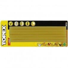 Klijų strypeliai, geltoni, 11,2x250mm  12vnt