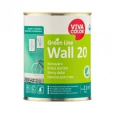 Green Line Wall 20 balti pusiau matiniai dažai sienoms 0,9l