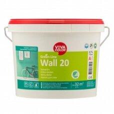 Green Line Wall 20 balti pusiau matiniai dažai sienoms 2,7l