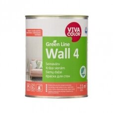 Green Line Wall 4 visiškai matiniai balti dažai sienoms 0,9l