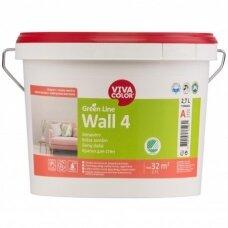 Green Line Wall 4 visiškai matiniai balti dažai sienoms 2,7l