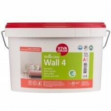 Green Line Wall 4 visiškai matiniai balti dažai sienoms 7,2l