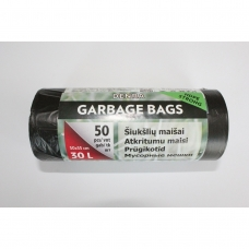 HDPE šiukšlių maišai 30l 50x55cm 50vnt.