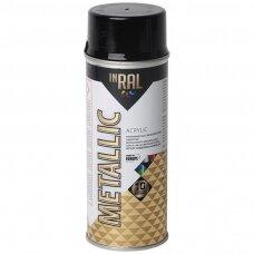 Aerozolinis akrilinis lakas, METALLIC, grafito juodas, 400ml