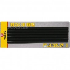 Klijų strypeliai, juodi  11,2x250mm 12vnt