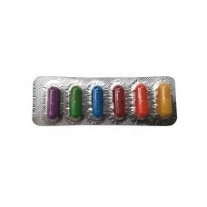 Kiaušinių dažai kapsulėse 6 spalvos