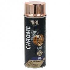 Lakas aerozol. akrilinis INRAL CHROME, varinis, 400 ml