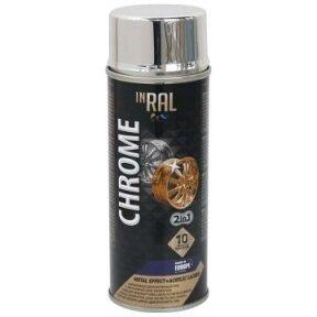 Lakas aerozol. akrilinis INRAL CHROME, sidabrinis, 400 ml