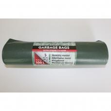 LDPE šiukšlių maišai 100l 72x112cm 5vnt.
