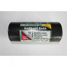 LDPE šiukšlių maišai 120l 70x105cm 10vnt.