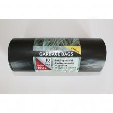 LDPE šiukšlių maišai 160l 80x110 10vnt.