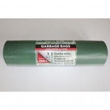 LDPE šiukšlių maišai 200l 75x135 5vnt.