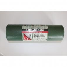 LDPE šiukšlių maišai 250l 90x140cm 5vnt.