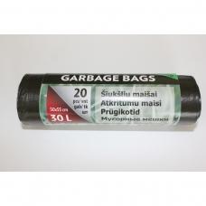 LDPE šiukšlių maišai 30l 50x55cm 20vnt.