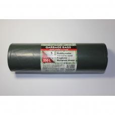 LDPE šiukšlių maišai 350l 105x150 5vnt.