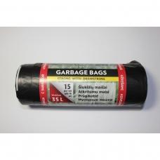 LDPE šiukšlių maišai 35l 50x60 15vnt.