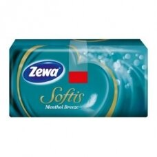 Mentolio aromato vienkartinės nosinaitės ZEWA Softis Menthol