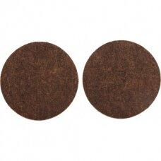Padukai baldams lipnūs veltinio rudi   D50 mm 2vnt.