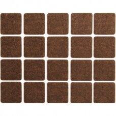 Padukai baldams lipnūs veltinio rudi   20x20 mm 20vnt.