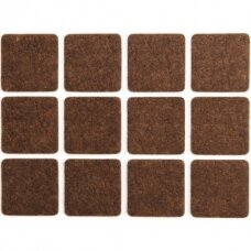 Padukai baldams lipnūs veltinio rudi  28x28 mm 12vnt.