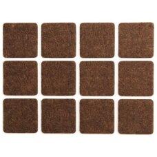 Padukai baldams lipnūs veltinio rudi 20x20 20vnt.