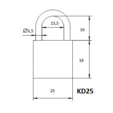 Pakabinama spyna KD-25