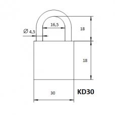 Pakabinama spyna KD-30