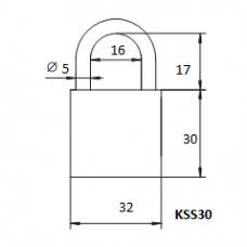 Pakabinama spyna KSS-30