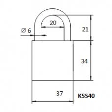 Pakabinama spyna KSS-40