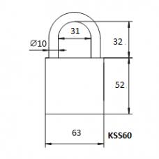 Pakabinama spyna KSS-60