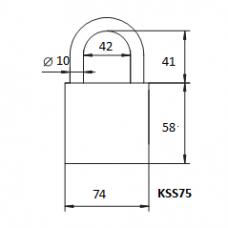 Pakabinama spyna KSS-75
