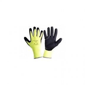 Pirštinės apsauginės žieminės juodai-geltonos 10 dydis