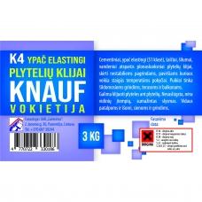 Plytelių klijai Knauf K-4 3kg