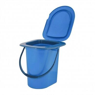 Plastikinis WC kibiras-tualetas 17l 2