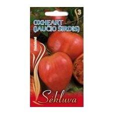 Valgomieji pomidorai Oxheart (Jaučio širdis)