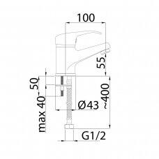 Praustuvo maišytuvas OPTIMA-18