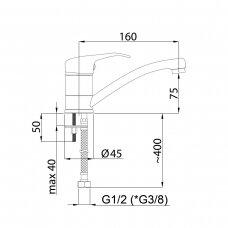 Praustuvo maišytuvas OPTIMA-19