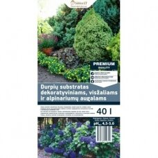 Substratas dekoratyviniams spygliuočiams,rododendroms,visžaliams ir alpinariumų augalams 40l