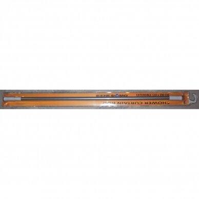 Teleskopinis dušo užuolaidos karnizas 110-200cm pilkas
